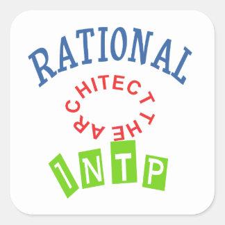 Personalidad de los números racionales de INTP Pegatina Cuadrada