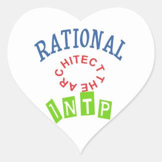 Personalidad de los números racionales de INTP Pegatina En Forma De Corazón