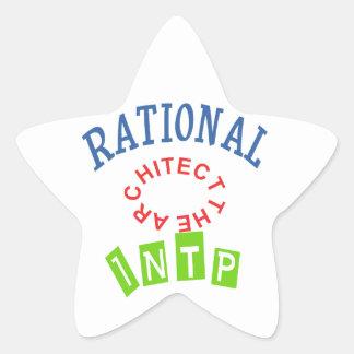 Personalidad de los números racionales de INTP Pegatina En Forma De Estrella