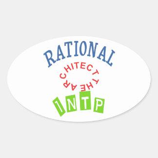 Personalidad de los números racionales de INTP Pegatina Ovalada