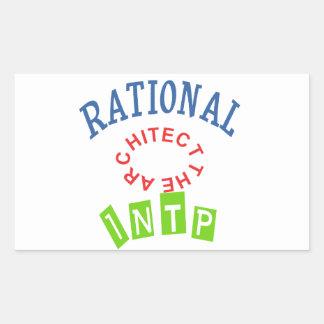 Personalidad de los números racionales de INTP Pegatina Rectangular