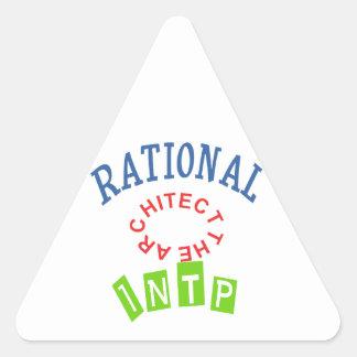 Personalidad de los números racionales de INTP Pegatina Triangular