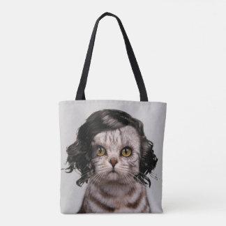 Personalidad linda de la muñeca del gato de un bolsa de tela