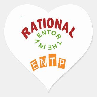 Personalidad racional de ENTP Pegatina En Forma De Corazón