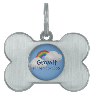 Personalied Rainbow Framed Pet Tag