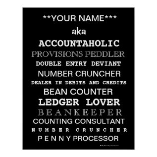 Personalisable Accountant Funny Job Titles Poster at Zazzle