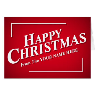 Personalisable Happy Christmas Greetings Card