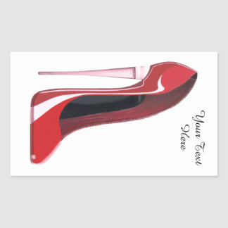 Personalise Champagne heel red stiletto sticker