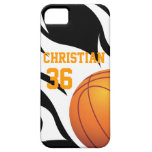 Personalise Flaming Basketball B/W iPhone 5 Covers