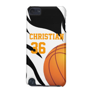 Personalise Flaming Basketball B/W iPod Touch (5th Generation) Cover
