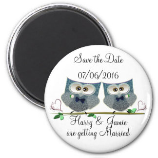 Personalise Grooms Save the Date Wedding Magnet