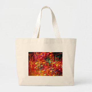 Personalise light trail multicolour design photo large tote bag