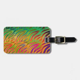 Personalise Multi Color Wave Orange Luggage Tag