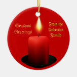 Personalise this Christmas Candle Ornament