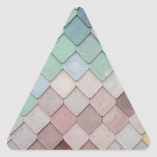 Personalise unique modern tile design photograph triangle sticker