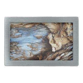 Personalise wood bark texture design photo rectangular belt buckle