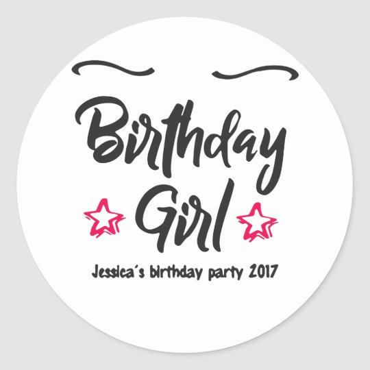 Personalised 18Th 21St 30Th 40Th 50Th Birthday Gir Classic Round Sticker