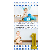 1st birthday thank you cards greeting photo cards zazzle personalised 1st birthday thank you card bookmarktalkfo Gallery