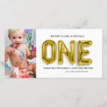 """Personalised 1st Birthday Thank You Card<br><div class=""""desc"""">The candles are out and the cake is just a memory, but their love remains. Thank them for helping you celebrate the special day. Add your custom wording to this design by using the &quot;Edit this design template&quot; boxes on the right hand side of the item, or click the blue...</div>"""