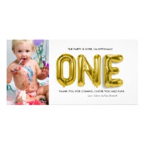 Personalised 1st Birthday Thank You Card