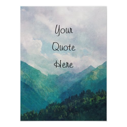 Personalised add your quote poster