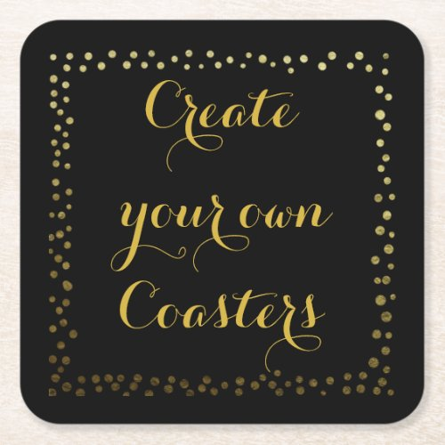 personalised and create your own coaster Thank you