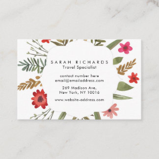 Personalised Autumn Bloom Business Cards