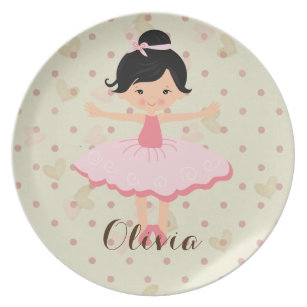 Personalised Ballerina - Asian Dinner Plate  sc 1 st  Zazzle & Asian Plates | Zazzle