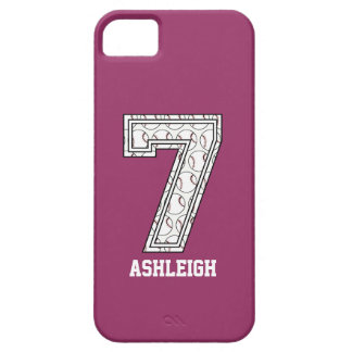 Personalised Baseball Number 7 iPhone 5 Cases