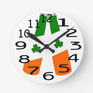 Personalised Beer Bottles Clock St pattys day