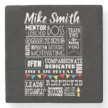 personalised Best Boss Appreciation Gift  Coaster