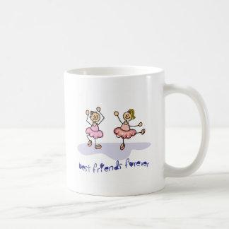 PERSONALISED BEST FRIENDS FOREVER DANCING GIRLS COFFEE MUG