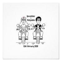 Personalised Biker Motorcycle Wedding Invitation