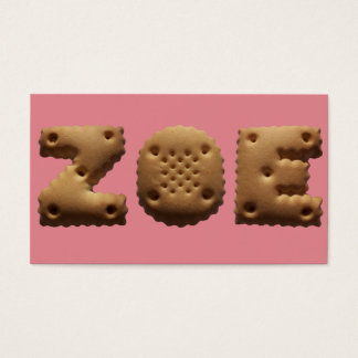 Personalised birth cards in character cookies