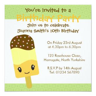 Personalised Birthday Invitation - Ice Lolly
