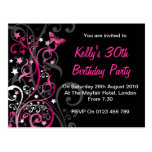Personalised Birthday Invitations Post Cards