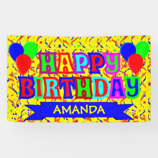 Personalised birthday party banner