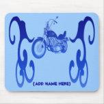 Personalised Blue Bike - Mousepad
