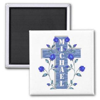 personalised Blue cross Magnet