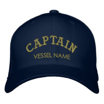 Personalised Boat Name Captain Hat