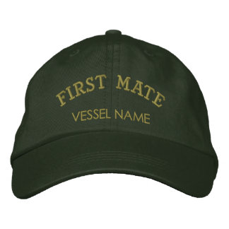 Personalised Boat Name First Mate Hat