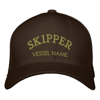 Personalised Boat Name Skipper Hat Embroidered Hat