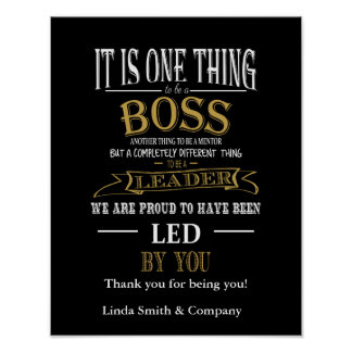Personalised Boss Day Poster print