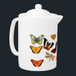 "Personalised Butterfly Theme Porcelain Teapot<br><div class=""desc"">Custom personalized butterfly themed teapot design with name.</div>"
