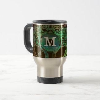 Personalised Car Themed Monogram Design Travel Mug