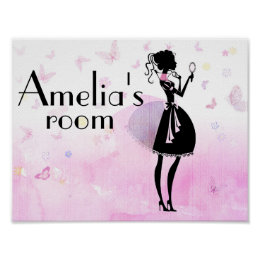 Personalised children's room sign