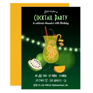 Personalised Cocktail Birthday Party invitation