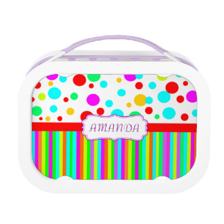 personalised colorful lunch box