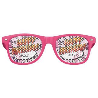 Personalised Comic Book Pop Art HAPPY BIRTHDAY Retro Sunglasses