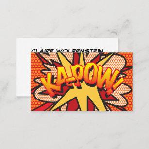 Comic business cards templates zazzle personalised comic book pop art ka pow business card colourmoves